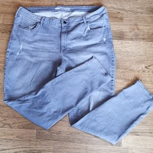 Old Navy Grey Mid-Rise The Rock Star Jeans…